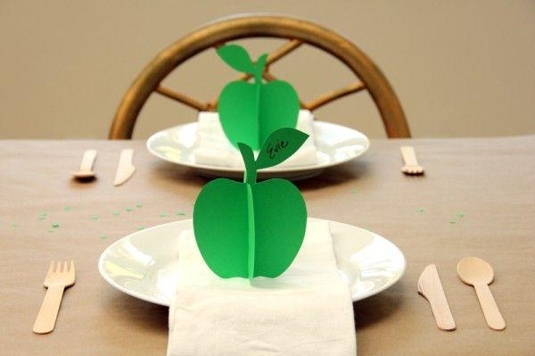 """<p>For a fall feast or just to dress up a dinner at home, these adorable place cards will get everyone in a fall mood. Choose green cardstock, red cardstock or alternate!</p><p><a href=""""https://studiodiy.com/diy-3d-apple-place-cards/"""" rel=""""nofollow noopener"""" target=""""_blank"""" data-ylk=""""slk:Get the tutorial at Studio DIY »"""" class=""""link rapid-noclick-resp""""><em>Get the tutorial at Studio DIY »</em></a></p>"""