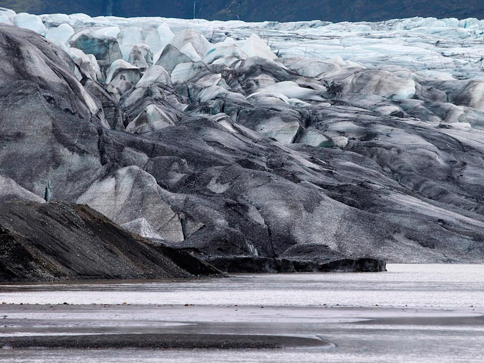The Vatnajokull glavier in south eastern Iceland, one of the largest glaciers in Europe covering an area of 8,400 square kilometres (Joel Saget/AFP/Getty)