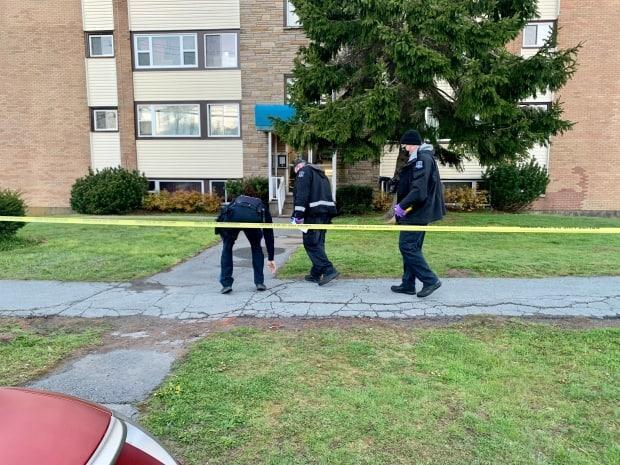 Officers are still on the scene Thursday morning. A four-level apartment building on Prince Arthur Street has been taped off by police.