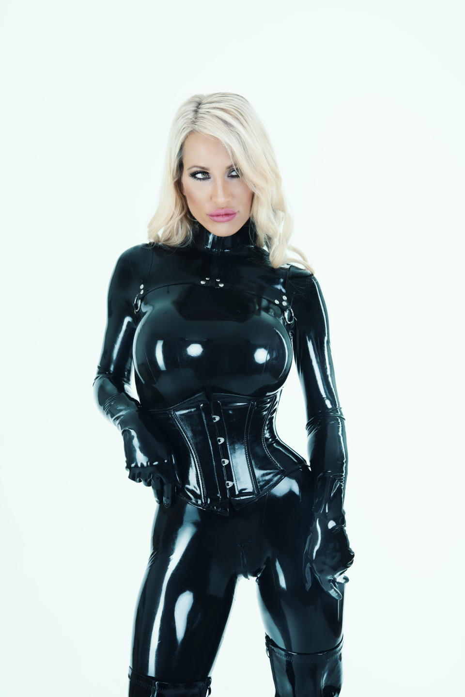 Sarah is better known by her dominatrix name, Calea Toxic. Photo: MediaDrumWorld/Australscope (supplied).