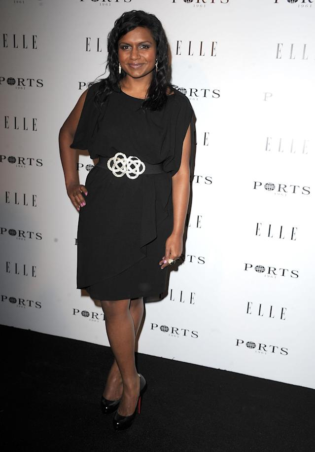 Mindy Kaling attends ELLE's Women In TV Celebration Presented By Ports 1961 at Soho House on January 27, 2011 in West Hollywood, California.