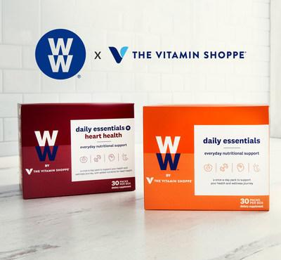 The co-branded nutritional supplement packs are available in-store and online through The Vitamin Shoppe and WW.