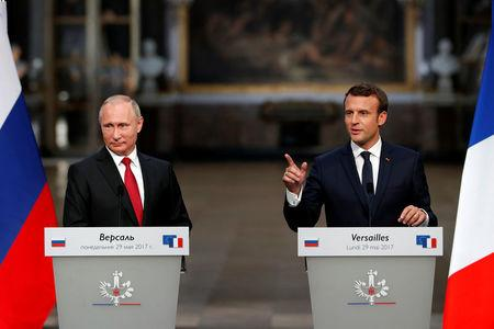 Not from Russian Federation with love: Putin, Macron talk tough
