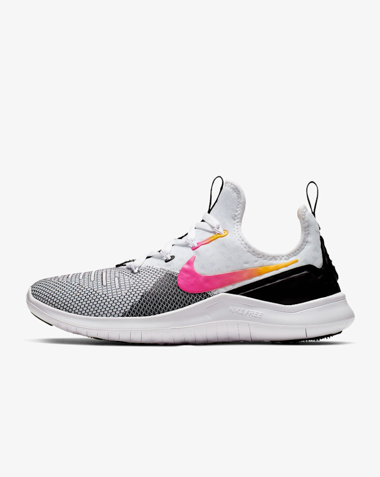 """<p>This training <a href=""""https://www.self.com/story/everlane-tread-sneakers-review?mbid=synd_yahoo_rss"""">sneaker</a> is made with a breathable, mesh upper and extra cushioning to support your feet during high-intensity workouts.</p> <p><strong>Buy it:</strong> $70 (originally $100), <a href=""""https://www.nike.com/t/free-tr8-womens-gym-hiit-cross-training-shoe-9O38Er/942888-008"""">nike.com</a></p>"""