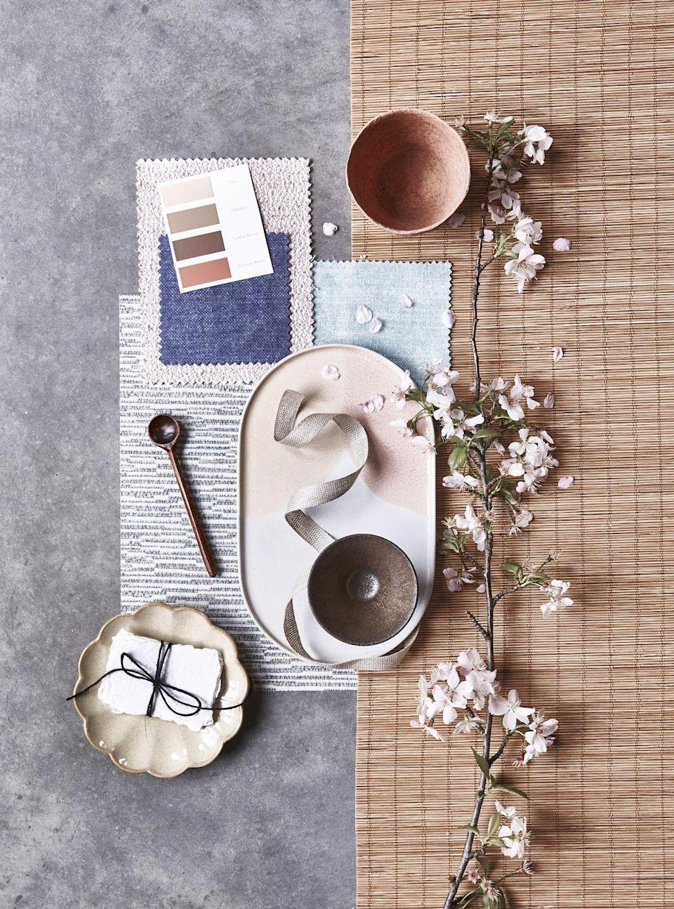 """<p>It's all about natural textures, beautiful details and the most delicate of shades to recreate this easy-to- live with Japanese Scandi fusion.</p><p>READ MORE: <strong><a href=""""https://www.housebeautiful.com/uk/decorate/a35383663/how-to-make-moodboard/"""" rel=""""nofollow noopener"""" target=""""_blank"""" data-ylk=""""slk:How to make a moodboard: an interior stylist's 6 top tips to help you plan your perfect scheme"""" class=""""link rapid-noclick-resp"""">How to make a moodboard: an interior stylist's 6 top tips to help you plan your perfect scheme</a></strong></p>"""