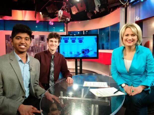 High school students Amit Scheer and Aditya Mohan sat down with van Oldenbarneveld in 2015 to discuss their cancer research on CBC's Our Ottawa.
