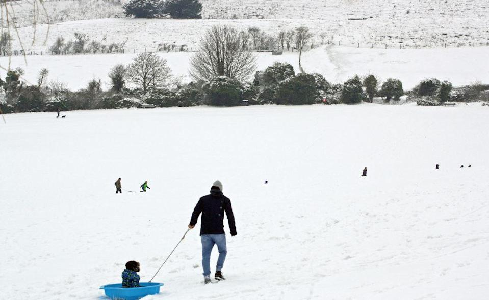 Large parts of the UK could be hit by snow over the weekend (PA)
