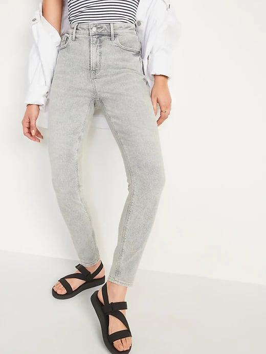 <p>When veering away from blue or black, these <span>Old Navy High-Waisted Rockstar Super Skinny Gray Jeans</span> ($40) - and the two brown shades of <span>Old Navy High-Waisted Rockstar Super Skinny Pop-Color Jeans</span> ($40) - are our colorful choices.</p>