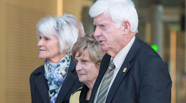 Allison Baden-Clay's parents Priscilla and Geoff Dickie leave court after the appeal by Gerard Baden-Clay over his murder conviction at the Court of Appeal. Source: Supplied.