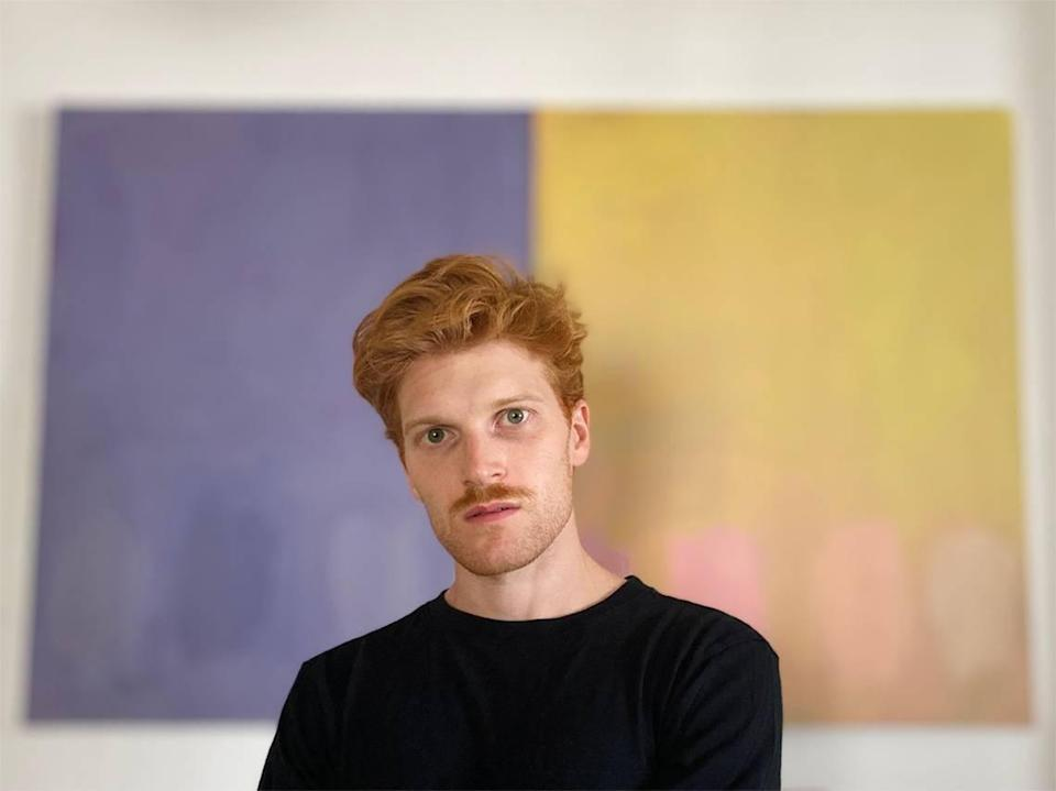 Miami City Ballet principal dancer Alexander Peters is showing his new paintings at the Miami Beach Botanical Garden Butterfly Gallery through Oct. 7. Credit: