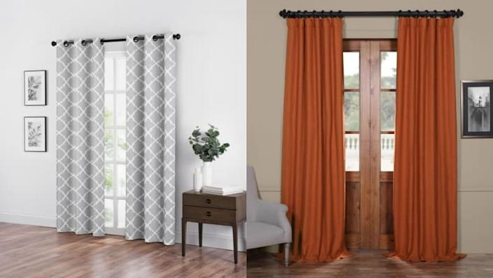 Your curtains can be as simple as this.