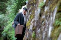 Director, actor and author of the theatre group Teatro Caprile, Andreas Kosek, re-enacts the escape of Jews fleeing Austria after the Holocaust