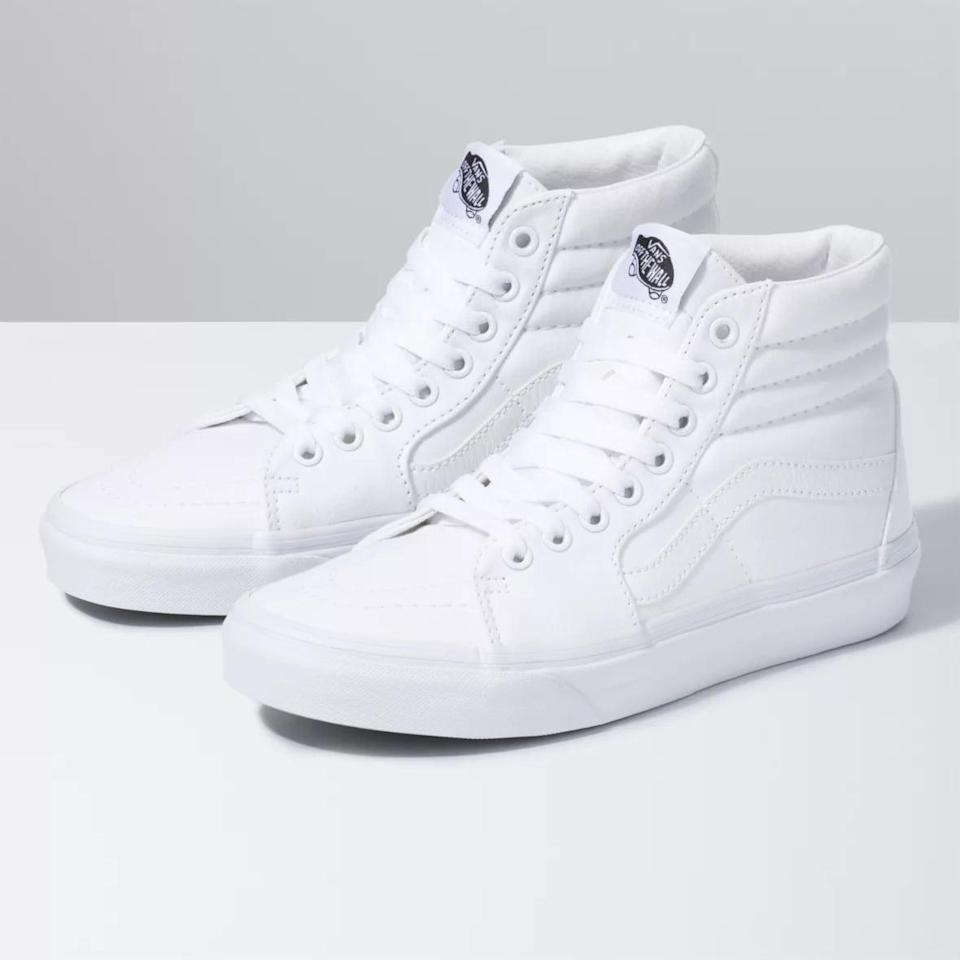 <p>For a modern take on a legendary sneaker, look no further than <span>Vans Canvas Sk8-Hi Sneakers</span> ($70).<br></p>