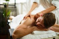 <p>Parenting obviously isn't an easy task, and if your dad — or partner — deserves relaxation time, set up a few spa activities from a pedicure to a back massage to a hydrating face mask. Men need to be pampered, too!</p>