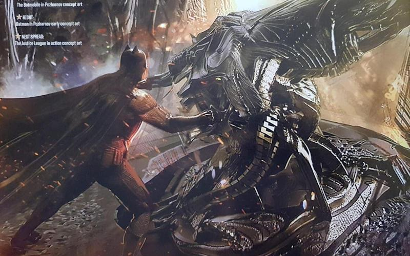 Batman pulls out the big guns in Justice League concept art