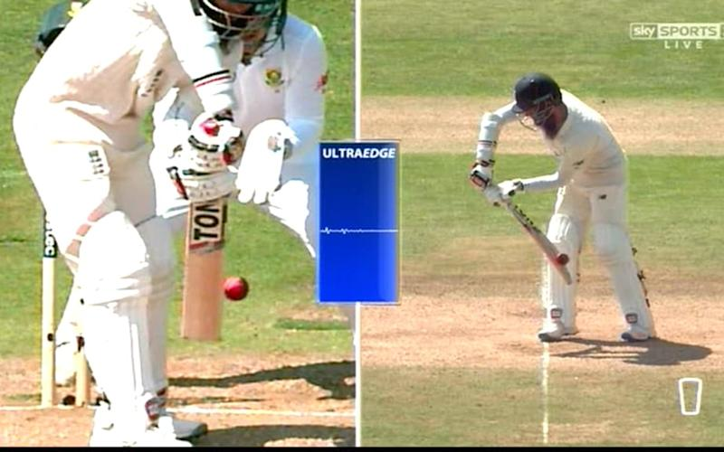 Moeen caught behind review - Credit: Sky Sports