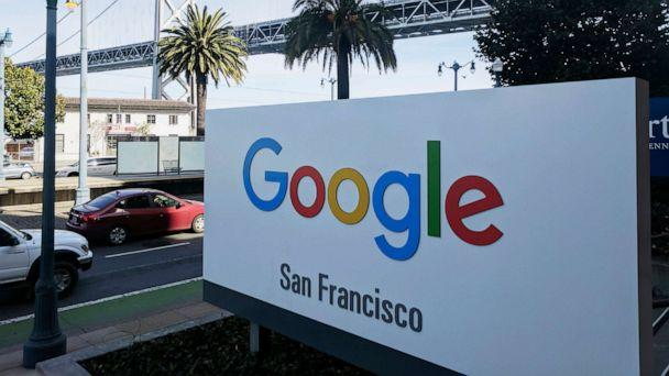 PHOTO: This Oct. 31, 2018, file photo shows signage outside the offices of Google in San Francisco with the San Francisco-Oakland Bay Bridge in the background. (Michael Liedtke/AP, FILE)