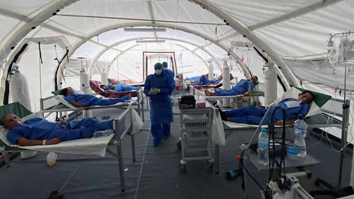 Los Ceibos hospital has been expanded with this Covid-19 field hospital