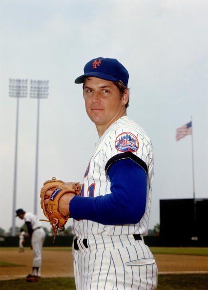 """<p><strong>April 22, 1970</strong>: Mets' righty Tom Seaver got off to a rocky start by his standards, allowing a run on two hits through the first five innings against the San Diego Padres. With two down in the sixth, he finally found his rhythm. Seaver struck out the final 10 batters he faced. """"It's not just that he did it, but that he did it to finish a game when you'd think he would be getting tired,"""" said Puerzer. """"He went through the lineup more than once and struck out every single person."""" Seaver finished the game with 19 strikeouts.<br> </p>"""