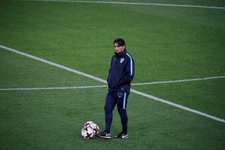 Soccer Football - 2018 World Cup Qualifications - Europe - Croatia Training - Karaiskakis Stadium, Athens, Greece - Novemeber 11, 2017 Croatia coach Zlatko Dalic during training REUTERS/Alkis Konstantinidis
