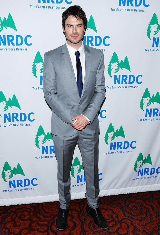 NEW YORK, NY - MARCH 14:  Actor Ian Somerhalder attends the 2013 Natural Resources Defense Council Game Changer Awards at the Mandarin Oriental Hotel on March 14, 2013 in New York City.  (Photo by Jemal Countess/Getty Images)