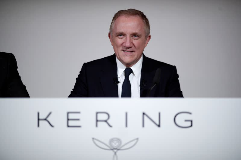 Francois-Henri Pinault, Chairman and CEO of French luxury group Kering, attends the annual news conference of Kering at the company's headquarters in Paris