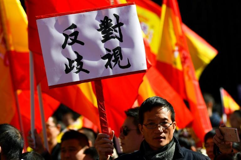 Chinese protesters in Madrid called BBVA 'racist' for closing their accounts