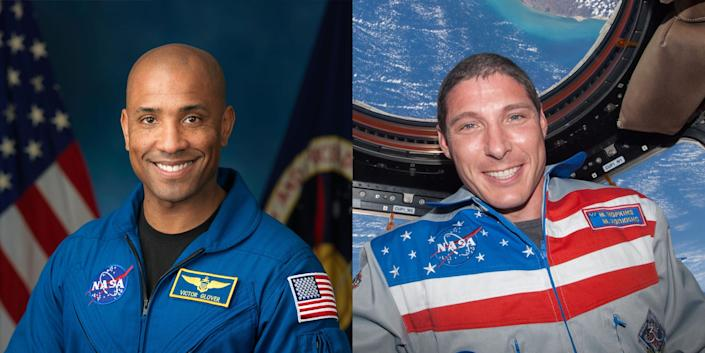 nasa astronauts victor glover michael mike hopkins spacex crew spx2