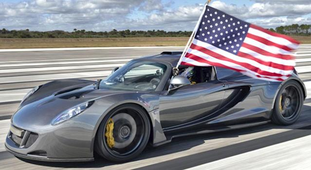 Hennessey reaches speed of 270.49 mph to beat Bugatti