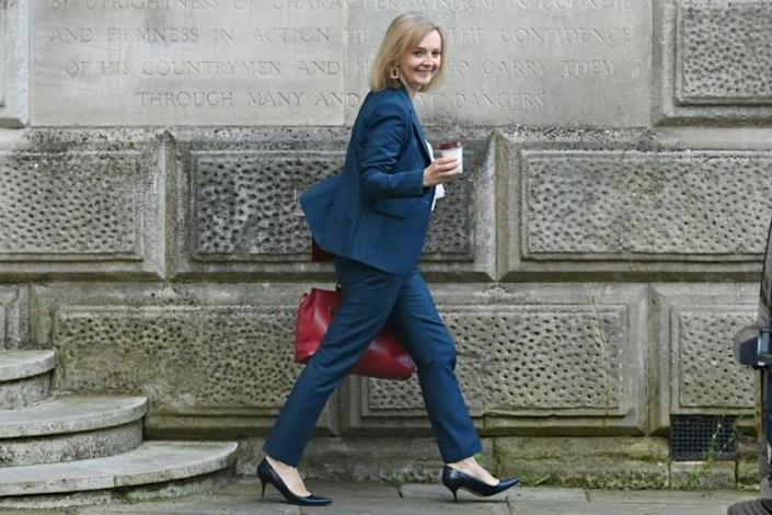 Britain's new Foreign Secretary Liz Truss faces a host of international challenges, from the Afghan crisis to tensions with Russia and China (AFP/JUSTIN TALLIS)
