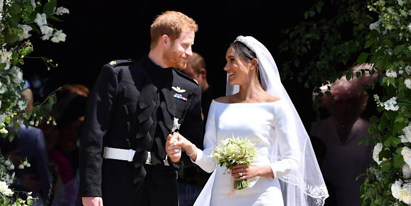 Meghan reveals 'something blue' she wore at royal wedding