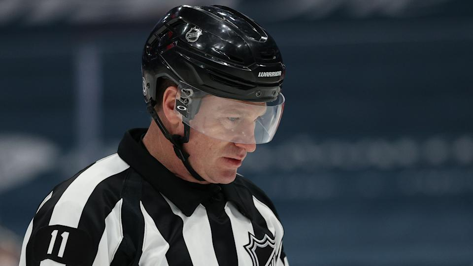 Kelly Sutherland and his crew might have some explaining to do after an official was caught on a live mic wanting to assign a makeup penalty against the Nashville Predators. (Patrick Smith/Getty Images)