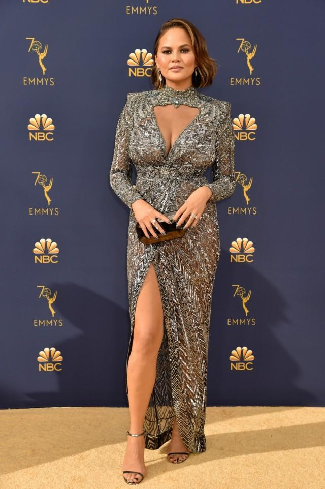 The model received lots of critiques after appearing at the 2018 Emmys with her husband, John Legend.