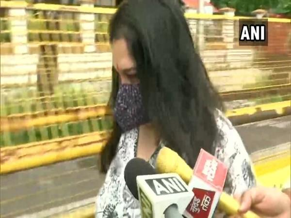 Mumbai: Shruti Modi, former business manager of actor Sushant Singh Rajput, visited NCB SIT office on Wednesday. [Photo/ANI]