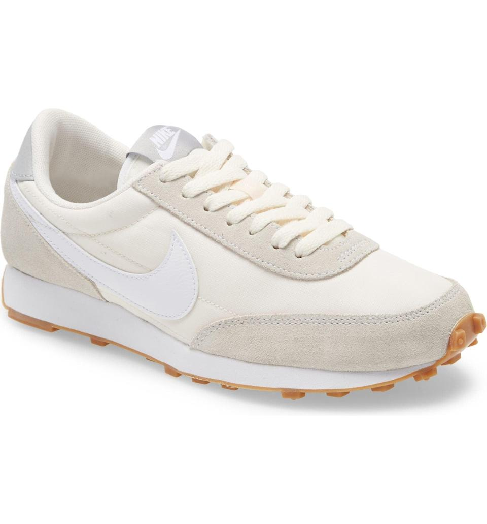 <p>We love these neutral <span>Nike Daybreak Sneakers</span> ($90) because they go with every outfit imaginable. The jogger style is coming back, and we like how comfortable they are.</p>