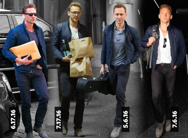 Outfit No. 2. He never goes out of style—or does he? (Photos: Splash; Graphic: Quinn Lemmers for Yahoo Style)