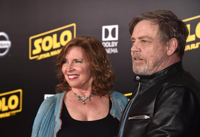 Mark Hamill and his wife, Marilou York, at the  <i>Solo</i> premiere. (Photo: Lucasfilm/Disney)