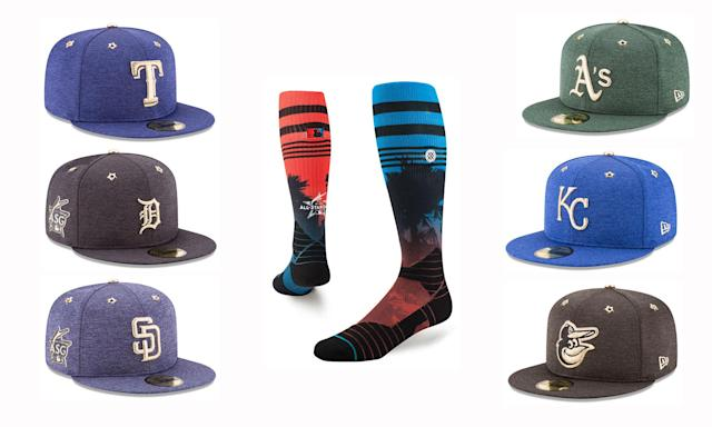 All-Star Game caps and socks. (MLB)