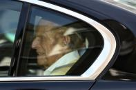 Britain's Prince Philip leaves King Edward VII's Hospital in London