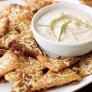 "<p>Fact: Use store-bought pita crisps, then all you have to do is make the dip!</p><p>Get the recipe from <a href=""https://www.delish.com/recipefinder/parmesan-pita-crisps"" rel=""nofollow noopener"" target=""_blank"" data-ylk=""slk:Delish"" class=""link rapid-noclick-resp"">Delish</a>.</p>"