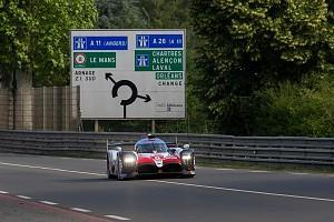 Fernando Alonso held a narrow advantage for Toyota at the top of the Le Mans test times when the opening session was stopped early as a result of a major accident