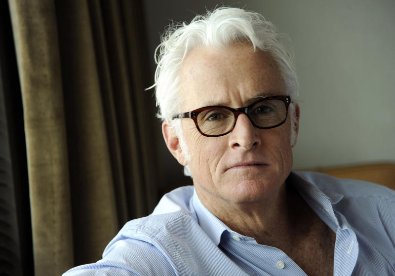 "In this Thursday, May 1, 2014 photo, actor/director John Slattery poses for a portrait on Thursday, May 1, 2014 in Los Angeles. The ""Mad Men"" actor Slattery makes his directorial debut with ""God's Pocket,"" a independent film based on Peter Dexter's novel about overlapping working class lives, releasing in theaters Friday, May 9. It's also one of the final performances by the late Philip Seymour Hoffman. (Photo by Chris Pizzello/Invision/AP)"