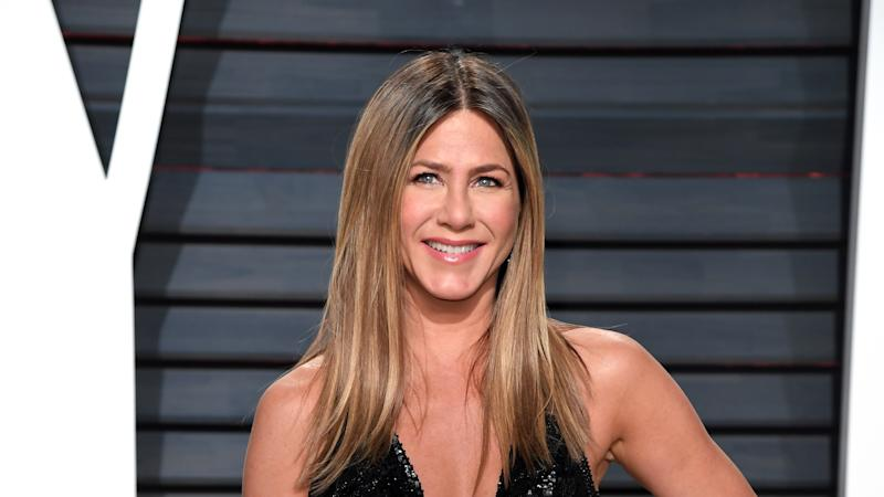 Brad Pitt laughs off claims hes dating Aniston