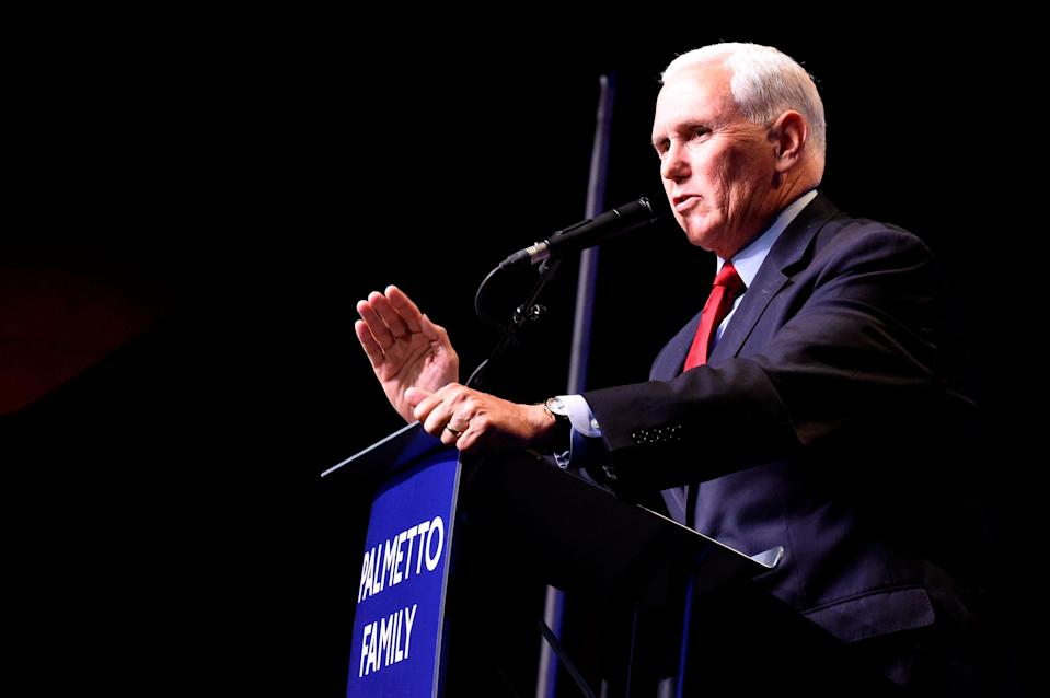 Some attendees at a dinner April 29 hosted by the Palmetto Family Council in Columbia, S.C., wondered if former Vice President Mike Pence's first public speech since leaving office might signal a presidential run.