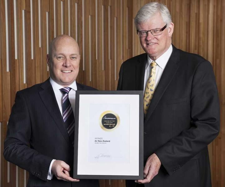 Air New Zealand named 2015 airline of the year