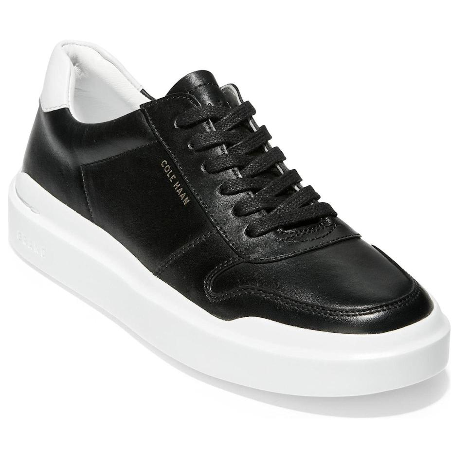 """<p><strong>Cole Haan</strong></p><p>nordstrom.com</p><p><strong>$130.00</strong></p><p><a href=""""https://go.redirectingat.com?id=74968X1596630&url=https%3A%2F%2Fwww.nordstrom.com%2Fs%2Fcole-haan-grandpro-rally-sneaker-women%2F5393600&sref=https%3A%2F%2Fwww.goodhousekeeping.com%2Fclothing%2Fg33264582%2Fmost-comfortable-shoes%2F"""" rel=""""nofollow noopener"""" target=""""_blank"""" data-ylk=""""slk:Shop Now"""" class=""""link rapid-noclick-resp"""">Shop Now</a></p><p>Cole Haan shoes are known for being designed with comfort in mind. These stylish low-top sneakers have <strong>a memory foam insole and a high traction outsole</strong>. The leather upper is available in four stylish shades, including rose gold and light pink. One reviewer said they were """"ridiculously comfortable while also being perfectly on trend.""""</p>"""
