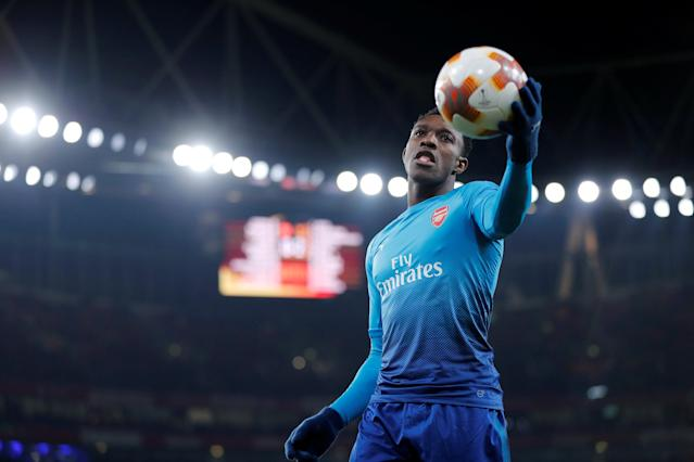 Soccer Football - Europa League Round of 32 Second Leg - Arsenal vs Ostersunds FK - Emirates Stadium, London, Britain - February 22, 2018 Arsenal's Danny Welbeck during the match REUTERS/Eddie Keogh