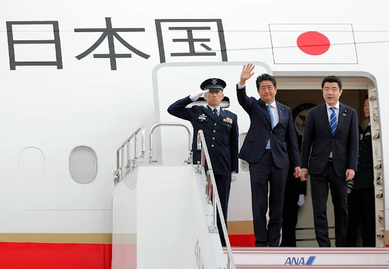 Japan's premier hopes to use Tokyo's longstanding trade ties with Tehran and strategic alliance with Washington to persuade Iranian leaders to calm soaring tensions in the Gulf (AFP Photo/JIJI PRESS)