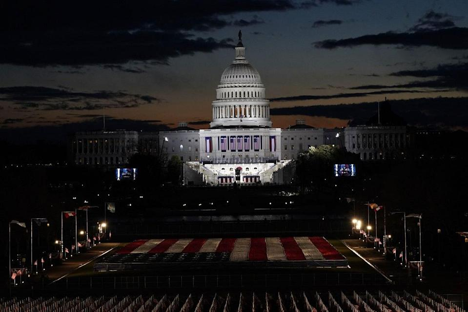 The US Capitol ahead of the 59th Presidential inauguration.