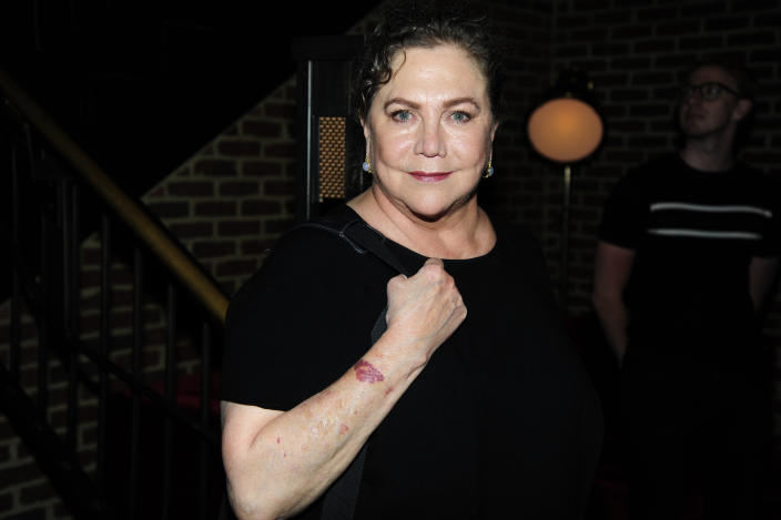 """Kathleen Turner attends Sony Pictures Classics & The Cinema Society Host A Screening Of """"David Crosby: Remember My Name"""" at The Roxy Cinema on July 16, 2019 in New York City. (Photo by Paul Bruinooge/Patrick McMullan via Getty Images)"""
